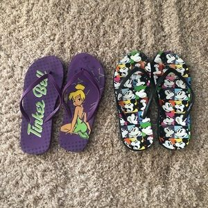 Disney Flip Flops sz 9